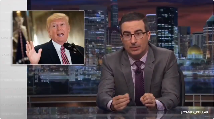 John Oliver Mocked Trump In 2017 For Saying Crowds Will Tear Down Washington And Jefferson statues