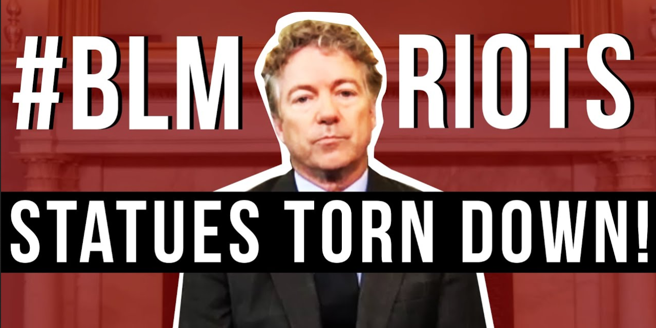 'Mayhem And Lawlessness': Rand Paul Compares Protesters Tearing Down Statues To The Taliban