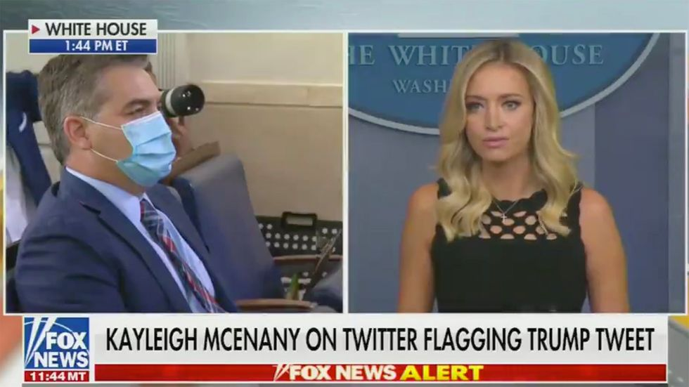 "Kayleigh McEnany Straight Up BODIES Jim Acosta Over Trump's ""Doctored Video"" Meme"