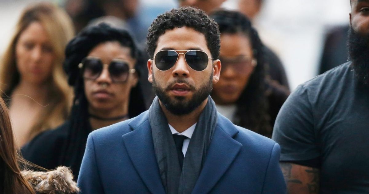 Jussie Smollett Shows Up at Trump Tower for Protest