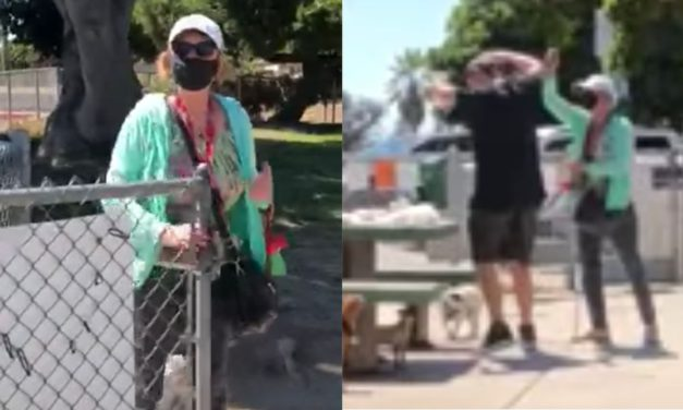 Crazy Mask Nazi Is Caught on Video Pepper-Spraying a Couple for Not Wearing Masks … While Eating