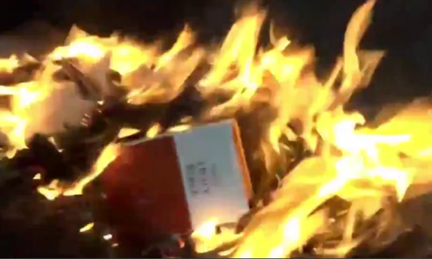 American Flag, Bibles Reportedly Burned In Portland Riots