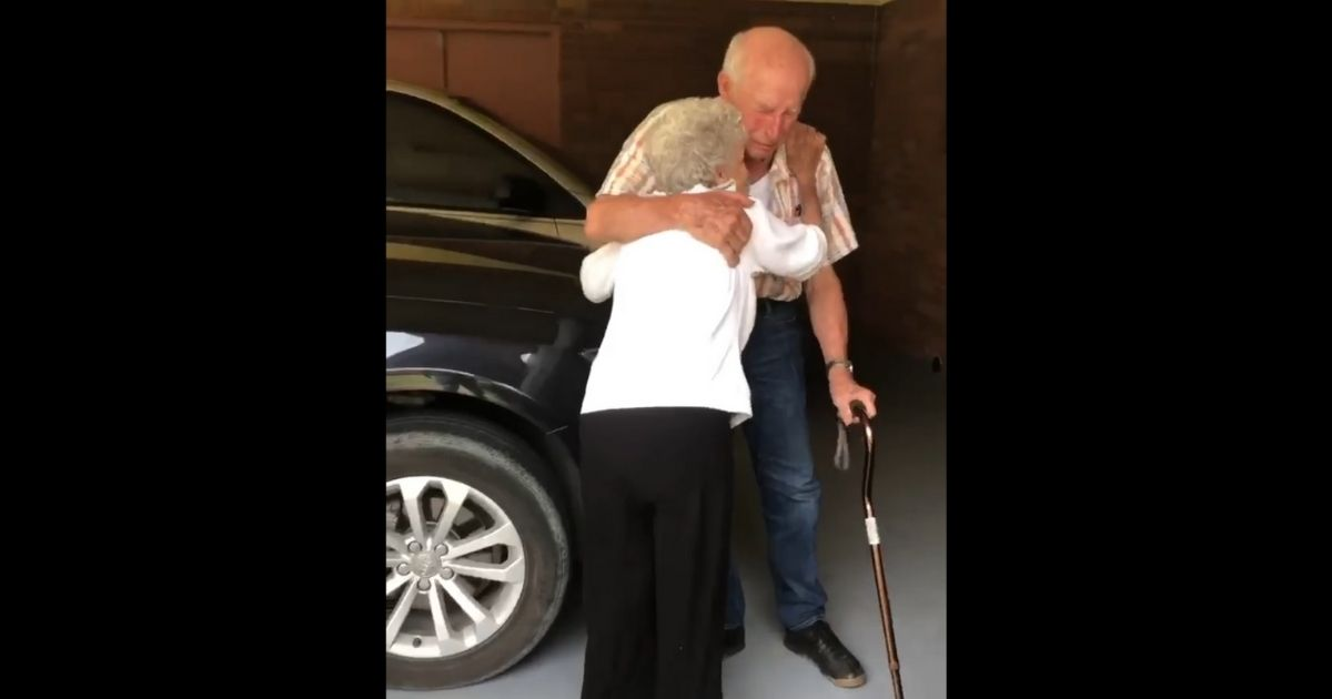 Watch: 90-Year-Old Husband Cries Tears of Joy When Wife Returns from Hospital