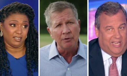 Watch Christie Savage Kasich for Trump Attack, Then Dem Contributor Join in: 'We Don't Want Him Either!'