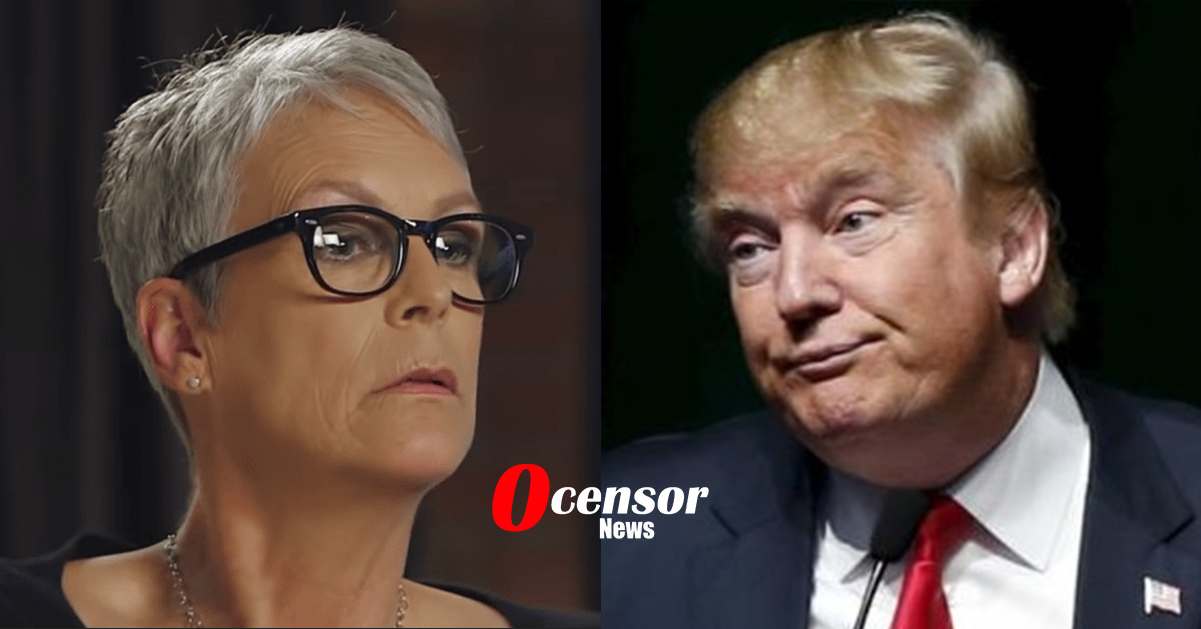 Jamie Lee Curtis goes Full Stupid And Posts Pic Of USPS Vehicle being Towed As Trump Conspiracy