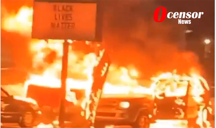 Kenosha Wisconsin burns and deals with Riots In Aftermath Of Police Shooting.