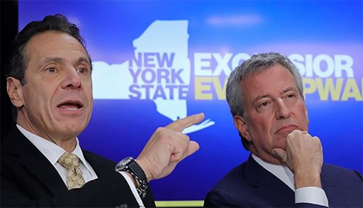 Massive 'F*ck CUOMO AND DE BLASIO' Painted on Brooklyn Street: 'Even the Cops Chuckled'