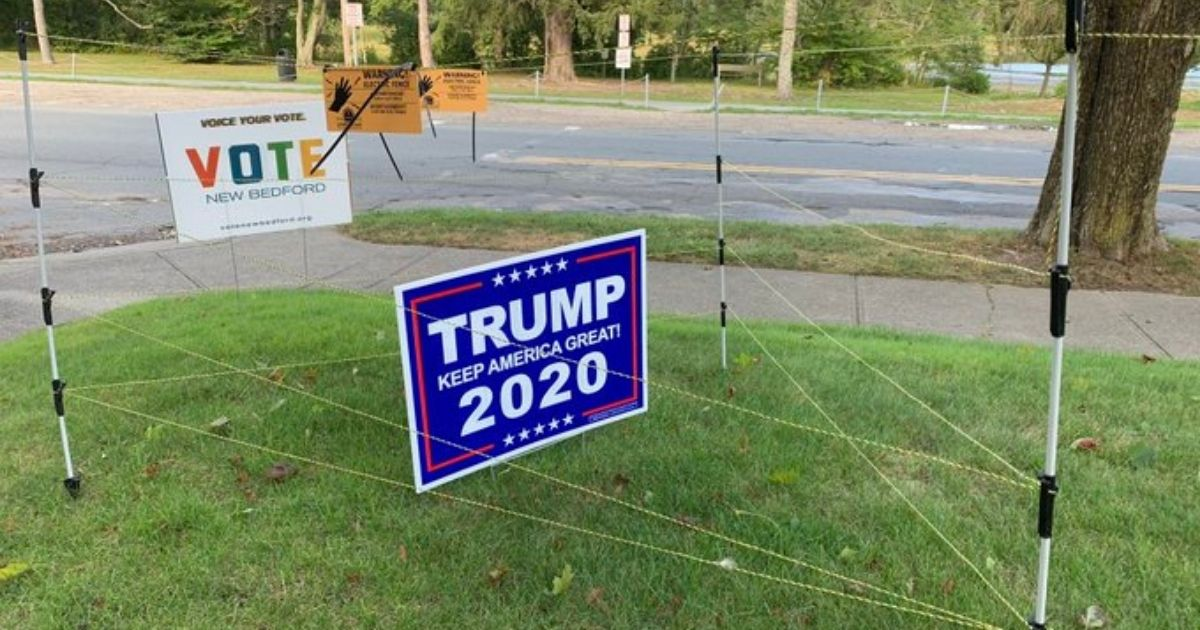 Video: Man Goes to Extreme Lengths After Multiple Trump Yard Signs Are Stolen
