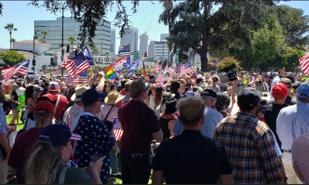 As Trump Battles COVID, BLM/Antifa Disrupt Trump Rally in Beverly Hills