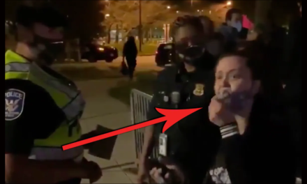 Crazy Liberal Demands Cops 'Do Something' About Trump Supporters at Walter Reed. Cops' reaction is PRICELESS!