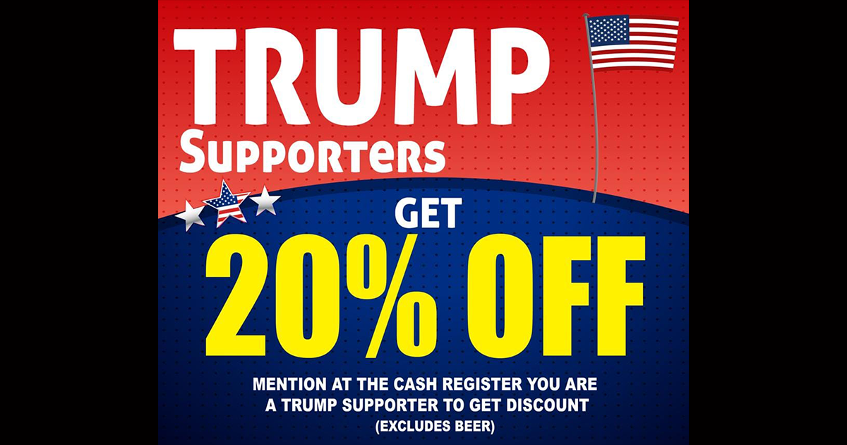 Grocery store faces calls for a boycott after its immigrant owner offers a 20% discount to Trump supporters