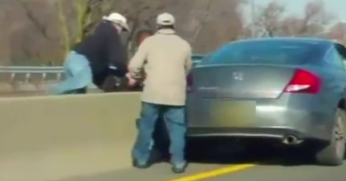Punk's Bloody Brawl with Trooper Ends When a Cowboy Rolls Up