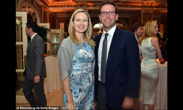 James Murdoch's wife Kathryn tweets 'we did it!!!!' and shares anti-Trump posts after Biden's win
