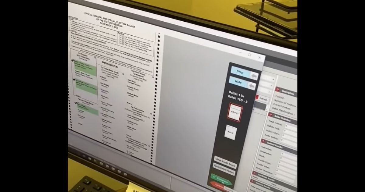 Game-Changing Video Shows Blank GA Ballots Turned Into Votes Using Dominion Machine