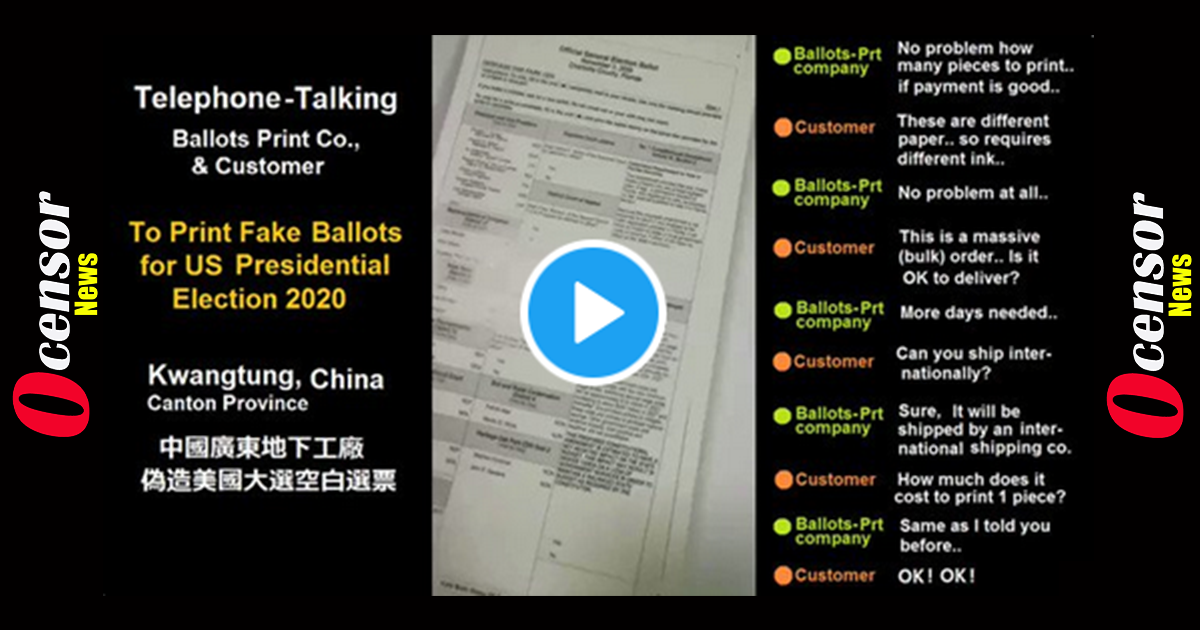 Leaked video claiming fake ballots were ordered from communist China goes viral