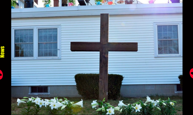 REPORT: Family Fined $100 For Putting Full-Size Cross On Their Yard