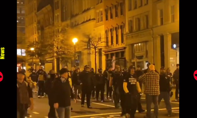 Trump Supporters with Proud Boys  Brawl with Counter-Protesters  On The Streets Of DC After MAGA March