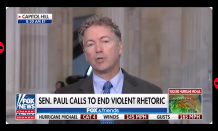 Rand Paul Just Asked About Bernie Sanders Not Taking Heat for Scalise Shooter. Other Dems Even More Directly to Blame