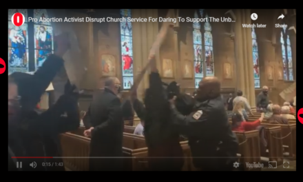 WATCH: Pro-Abortion mob STORMS cathedral during Mass. No Senate investigations to follow.