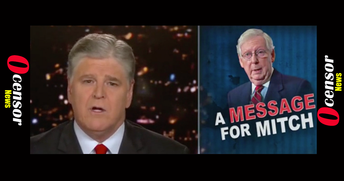 'We Need New Leadership In The US Senate': Sean Hannity Calls On Mitch McConnell To Step Down