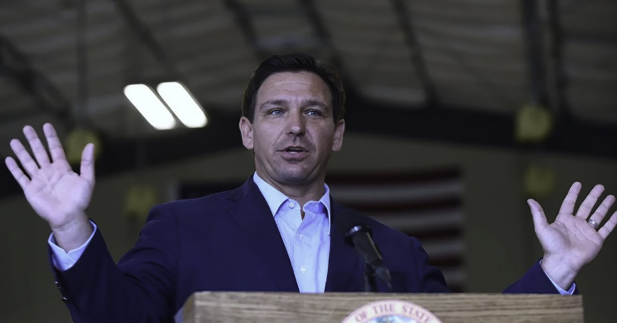 CBS Deceptively Edits Reporter's Interaction With FL Governor Ron DeSantis. Here's What He Really Said.