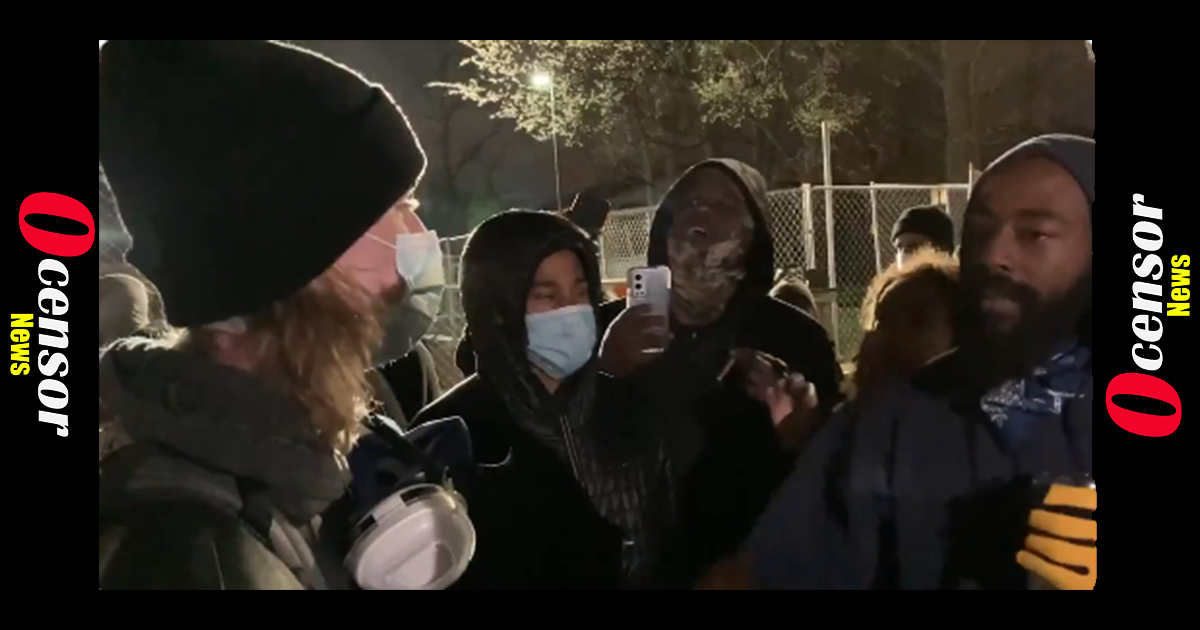 """""""If You Can't Be a Guest in Black Space, Get the F**k Out!"""" – Black Protesters Cuss Out White Kids Who Told Them to Quit Hurling Ice Bottles at Police"""