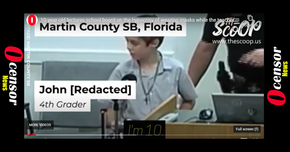 4th Grader Teaches School Board The Hypocrisy of Mask Wearing For Children