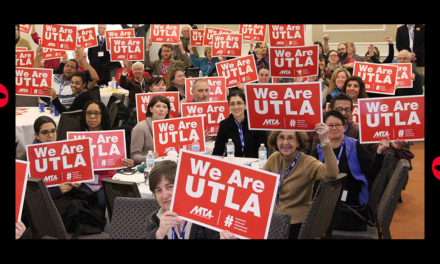 The LA Teachers Union with a Culture of Racism and Anti-Israel Politics Trying To Force Changes IN US Policies