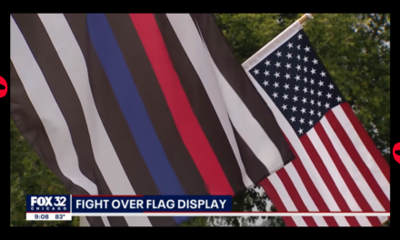 Illinois Restaurant ticketed for Flying American Flag, Large Protests In Favor of Owner
