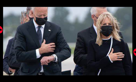NATIONAL DISGRACE: Joe Biden Caught Checking His Watch While Receiving 13 Fallen Military Members At Dover Base