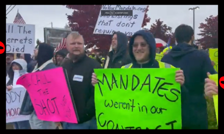 IT'S SPREADING: Boeing Employees Protest Company's Vaccine Mandate